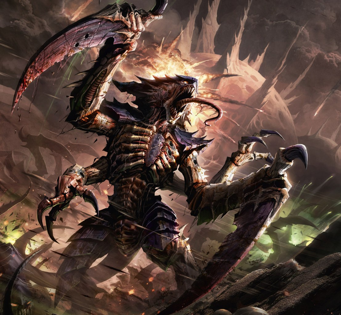 Tyranid Carnifex Art Weekly list #7 – hive mind – titan games and ...